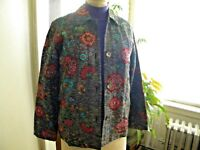 Chico's Design Womens:  Rayon Silk Embroidered Beaded Blazer Jacket -  Size 0