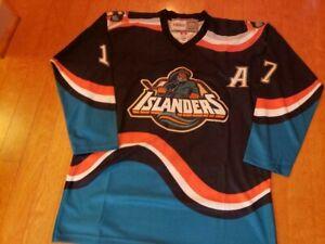 Custom Wendel Clark New York Islanders #17 Fisherman Jersey Size 52/XL