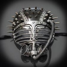 Masquerade Mask New Steampunk Silver Spiky Goggle Respirator Halloween Costume