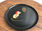 Vintage Couroc of Monterey MCM Christmas Mouse Tray Plate Design  WH 17