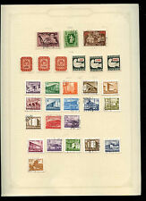 Hungary 1946-1953 Album Page Of Stamps #V2981