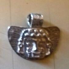 Meraviglioso ciondolo pendaglio in argento 800 fatto a mano stile precolombiano