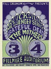 Quicksilver Messenger Service POSTCARD Grateful Dead Mothers Fillmore BG9 Wilson