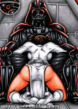 LEIA DOWN Darth Vader Detention Block Pinup Art 5x7 MINI-PRINT Garrett Blair
