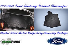 2015-2016 Ford Mustang Rubber All Weather Floor Mat & Cargo Area Protector OEM