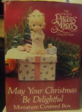 """Precious Moments """"MAY YOUR CHRISTMAS BE DELIGHTFUL"""" MINIATURE BOX 3"""" FIGURINE"""
