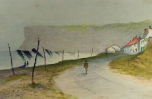 Original Watercolour, Huntcliff, Saltburn, 1909, Unknown Artist