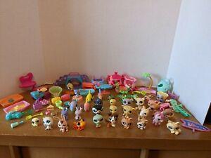 Big lot of Littlest Pet Shop Figures and Accessories
