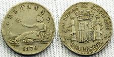FALSA DE EPOCA GOBIERNO PROVISIONAL 1 PESETA 1870 SILVER/PLATA rara