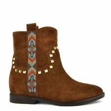 ASH FOOTWEAR Janice Russet (Brown) Suede Studded Boot UK7 | EU40 CLEARANCE!