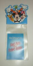 WALT DISNEY WORLD THEME PARK FAST PASS TICKET HOLDER POUCH PIN CLIP MICKEY MOUSE