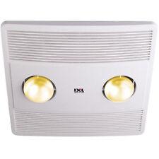 """IXL Vent n Lite Deluxe Bathroom Exhaust Fan 200mm (8"""") 2 x Halogen Lights 10363"""