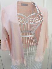 Neues AngebotMarks & Spencer nude rosa Strickjacke 16 Rüschen Rüschen hübsch Pastell Strick Sommer