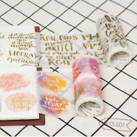 Positive Energy Watercolor Sentence Washi Masking Tapes Scrapbook Decor DIY