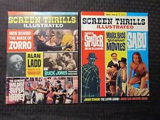 1964 Screen Thrills Illustrated Magazine #8 Vf- 735 #9 Fvf 7.0 Dchac
