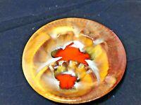 Vintage California Pottery Ashtray Brown Orange, Drip Glaze, Cigars/Cigarettes