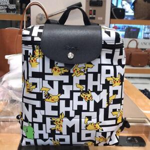 Origina Longchamp X Pokemon Le Pliage LGP Mini Pikachu 1699 Backpack Bag