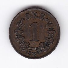 More details for 1877 norway 1 ore   pennies2pounds