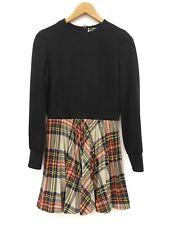Vintage Womens Holiday Tartan Plaid Pleated Fit And Flare Mini Dress Medium