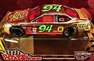 BILL ELLIOTT 1998 #94 McDonalds Big Mac Gold 1/24 Hood Open Diecast Car 50th Ann