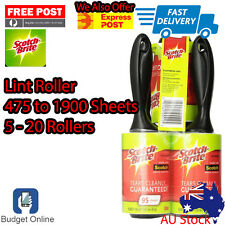 5 To 25 3M Scotch Brite Lint Roller Up To 1900 Sticky Sheets Fluff Dust Remover