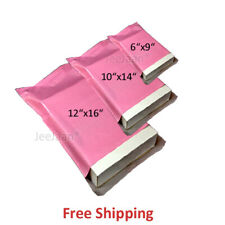 50 ALL PINK MIX SIZES PLASTIC POSTAL MAIL POSTAGE MAILING POLY SHIPPING BAGS