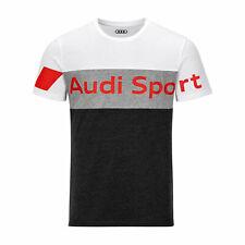 Original Audi Sport Shirt, Herren, grau/weiß S,M,L,XL,XXL,XXXL 3132001602-07