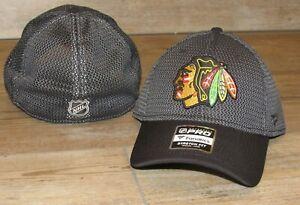 Fanatics Chicago Blackhawks Authentic Pro Mesh Flex Fitted Hat Cap Men's M/L
