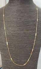 "18ct Solid Gold  Chain - Vintage -  Fancy link  - 28 1/4"" Long"