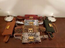 Snakeskin Leather Fanny Pack Crossbody Belt Bag Chain Wallet Ladies Waist Pouch