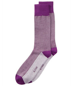 Alfani Mens Pique Knit Midweight Socks Purple Size 10-13