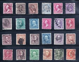 US STAMP 19th OLD SMALL BANK NOTE USED STAMPS COLLECTION LOT #W-1