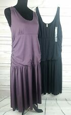 Lot of 2 Old Navy Maternity Summer Dresses Sleeveless Flowy Purple Blk Sz M NWT