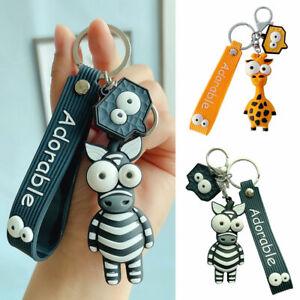 Creative Bag Pendant Cartoon Animal Giraffe Zebra Keychain Keyring Key Holder