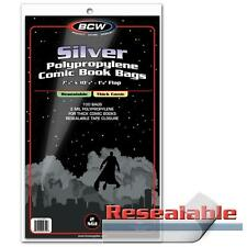 "1 Case of 1000 BCW Resealable Silver Age 7 1/4"" Thick Comic Book Storage Bags"