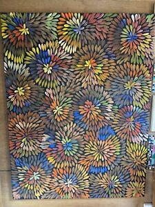 Aboriginal art by Louise Numina medicine leaves 🍃
