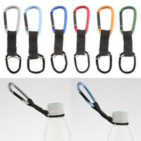 Outdoor Tactical Nylon Webbing Buckle Hook Water Bottle Holder Carabiner