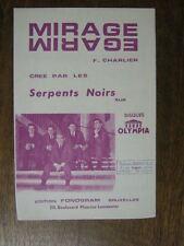PARTITION MUSICALE BELGE LES SERPENTS NOIRS MIRAGE