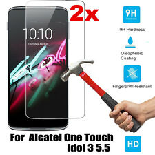 """2PCS Genuine Tempered Glass Screen Protector For Alcatel One Touch Idol 3 5.5"""""""