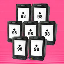 7 Non-OEM Alternative Ink Cartridge for HP 98 Black 2575 5940 6310