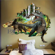 3D Jurassic Dinosaur Remonable Wall Sticker Kids Bedroom Decal Mural Floor Decor
