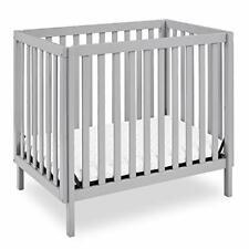 """Delta Children Gio Mini Crib with 2.75"""" Mattress Included, Grey"""