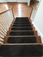 Microfiber Stair Treads NON-SLIP MACHINE WASHABLE Mats/Rugs, 20x55cm, 13pc -15pc