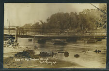 KS Fort Riley RPPC 10's VIEW of the PONTOON BRIDGE CAMP FUNSTON Stamped on back