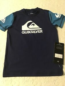 Quiksilver Rashguard  UPF 50+ ALL TIME SS BOY - HEATS ON SS BOY -Size 5 kids