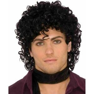 Rock Royalty Wig Prince 80's Star Fancy Dress Halloween Adult Costume Accessory