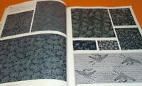 Japanese kimono KOMON and medium pattern printing design book from japan #0321