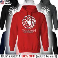 Game of Thrones Targaryen Hooded Sweatshirt Dragon Fire Sweater Shirt Hoodie GoT