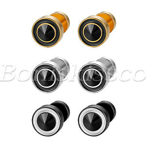 2pcs 8MM Men Women Stainless Steel Round Dumbbell Barbell Studs Earrings Jewelry