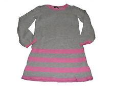 H & M tolles Strick Kleid Gr. 110 / 116 grau-rosa !!